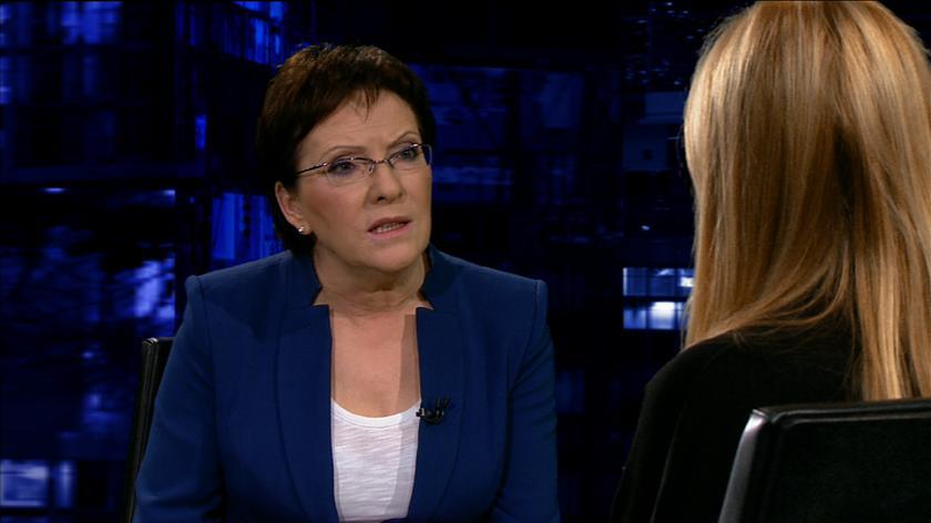 Kopacz o słowach do Tuska: powiedziałam to, co chciałam powiedzieć.