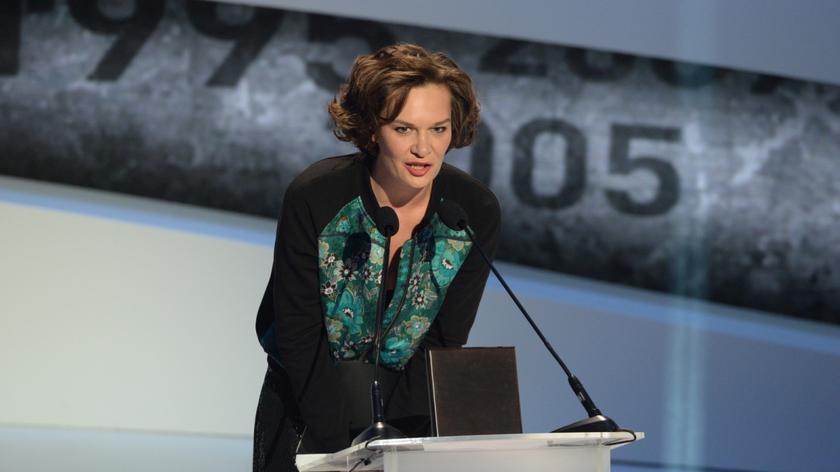 Krystyna Janda - zwyciężczyni w kategorii Kultura. Nagrodę odebrała Maria Seweryn