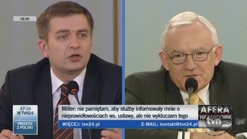 Leszek Miller: Był przeciek z afery hazardowej