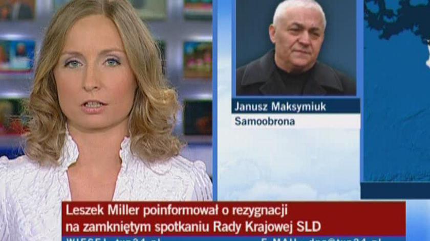 Maksymiuk: Miller w Samoobronie? Nie sądzę