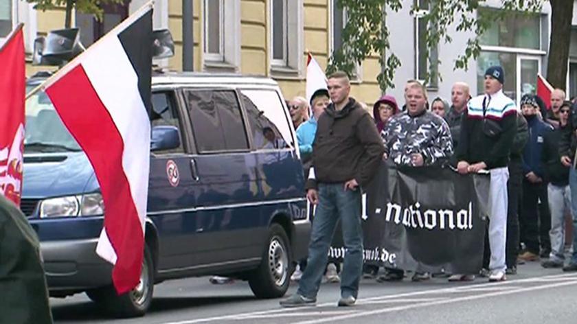 Marsz NPD we Frankfurcie na Odrą