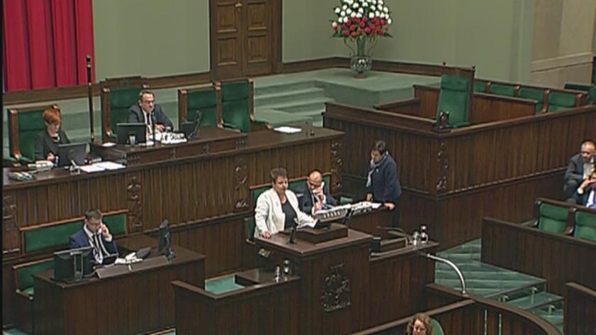 Marzena Wróbel powiedziała, że winę za podziały w Sejmie ponosi Tusk