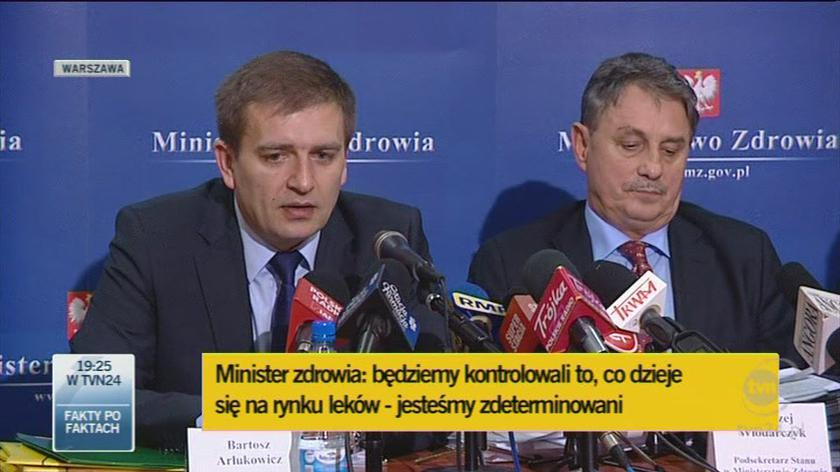 Minister zapewnił, że urzędnicy resortu zdrowia są odporni na naciski (TVN24)