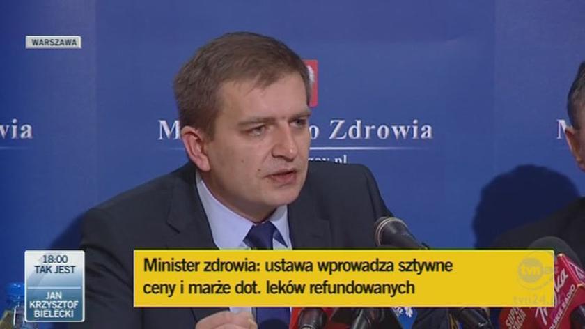 Minister zdrowia o lekach na schizofrenię(TVN24)