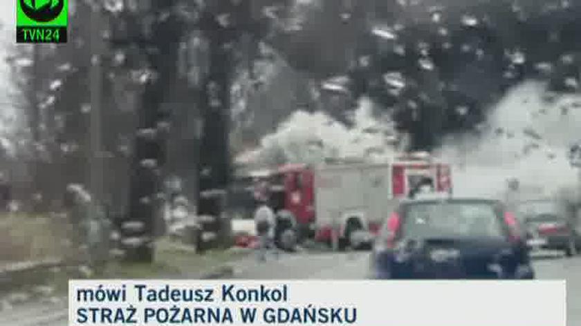 O pożarze mówi Tadeusz Konkol ze Straży Pożarnej w Gdańsku