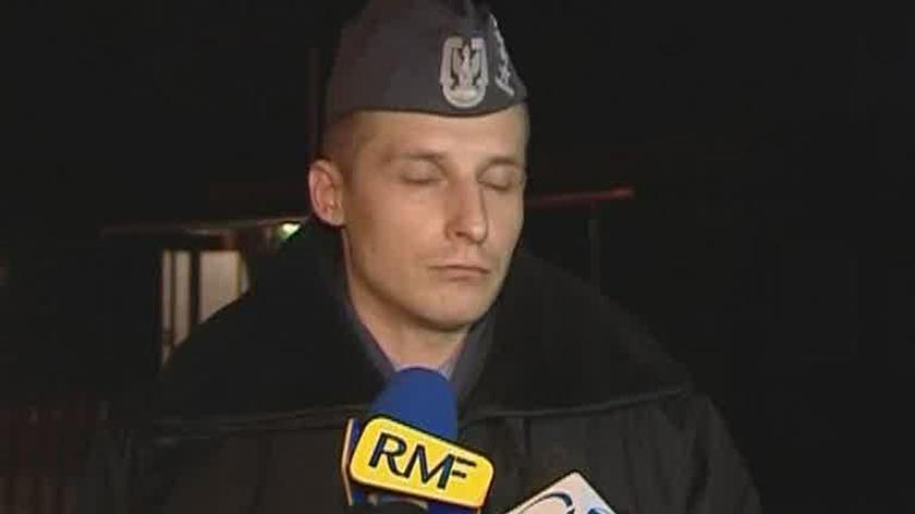 Oficerowie z jednostki w Krakowie, gdzie służyli piloci maszyny