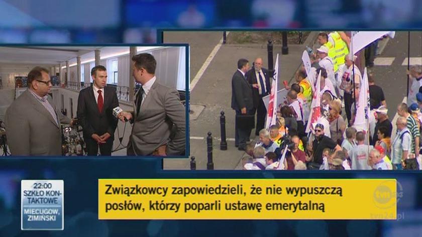 """Olejniczak """"cofnięty"""". Kalisz oburzony / TVN24"""