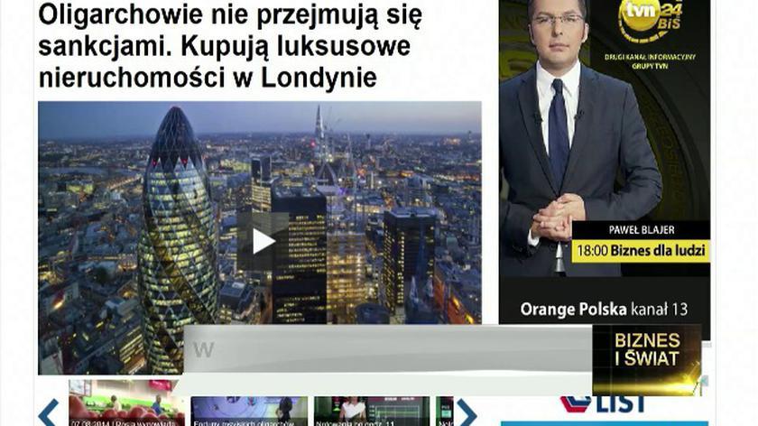 Oligarchowie nie bojąsięsankcji. Kupują w Londynie