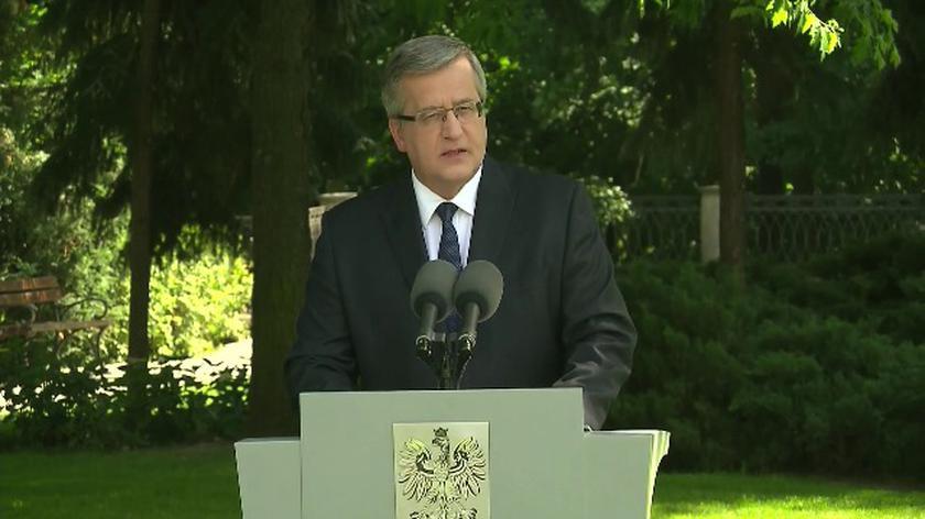 Oświadczenie prezydenta Bronisława Komorowskiego