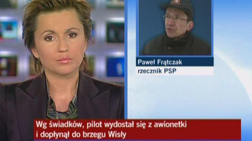 Paweł Frątczak, rzecznik PSP: szanse pilota maleją z minuty na minutę