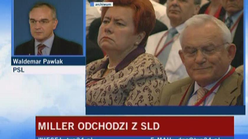 Pawlak: Miller raczej nie wystartuje z naszych list