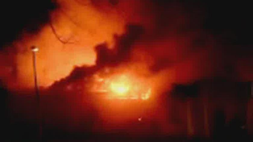 Płomienie sięgają kilku metrów /film od internauty