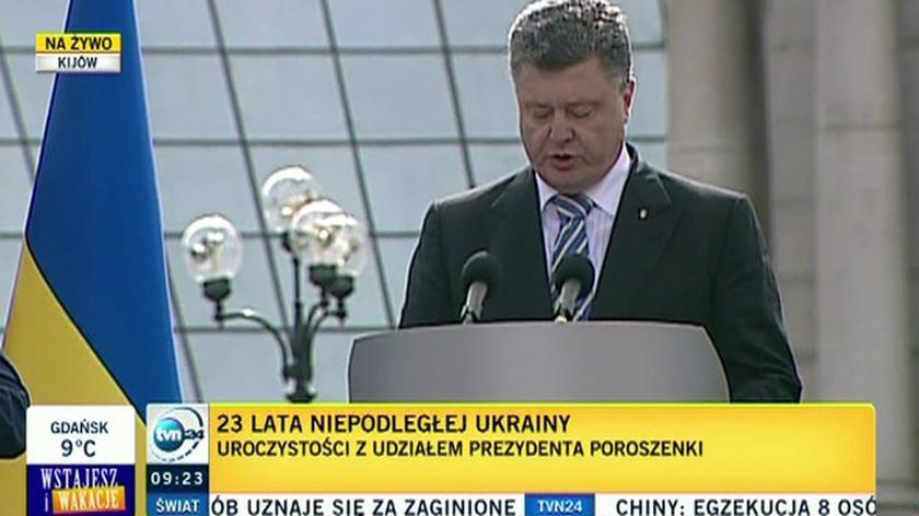 Poroszenko: Walka o wolną Ukrainę zakończy się dla nas zwycięsko dzięki ogólnonarodowej solidarności