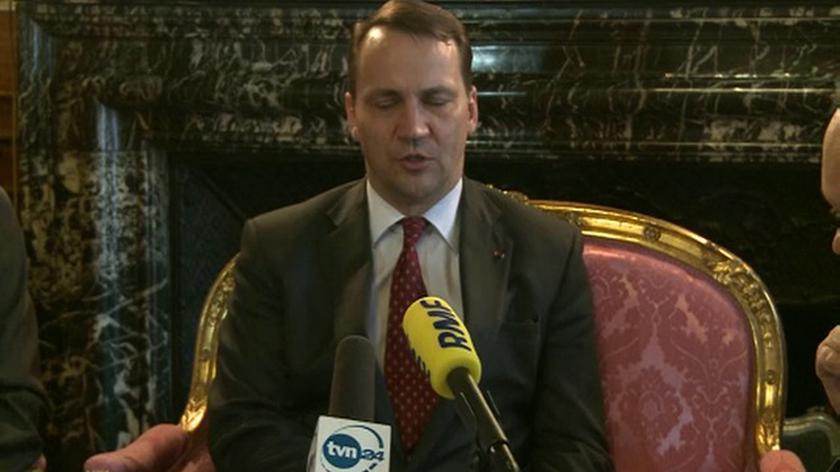 Radosław Sikorski po spotkaniu ministrów spraw zagranicznych w Paryżu