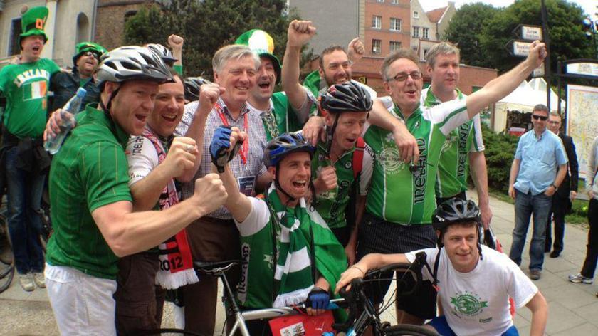 Rowerami z irlandii na Euro