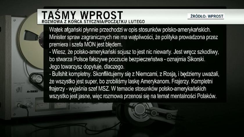 """Sikorski o stosunkach z USA i """"murzyńskości"""" Polaków"""