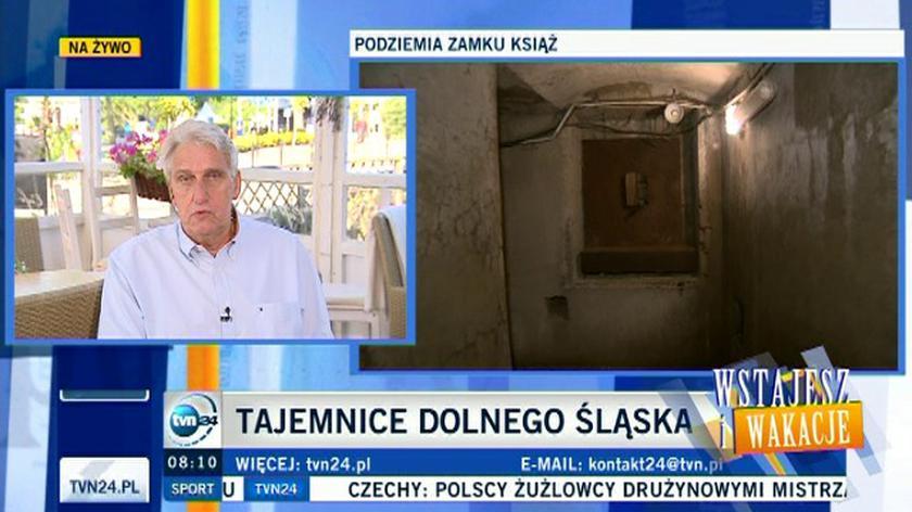 Tajemnice Zamku Książ w poranku TVN 24