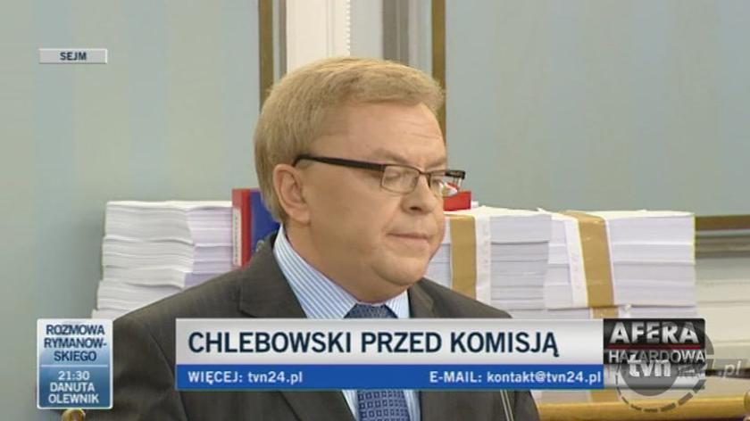 Zbigniew Chlebowski - przysięga/TVN24