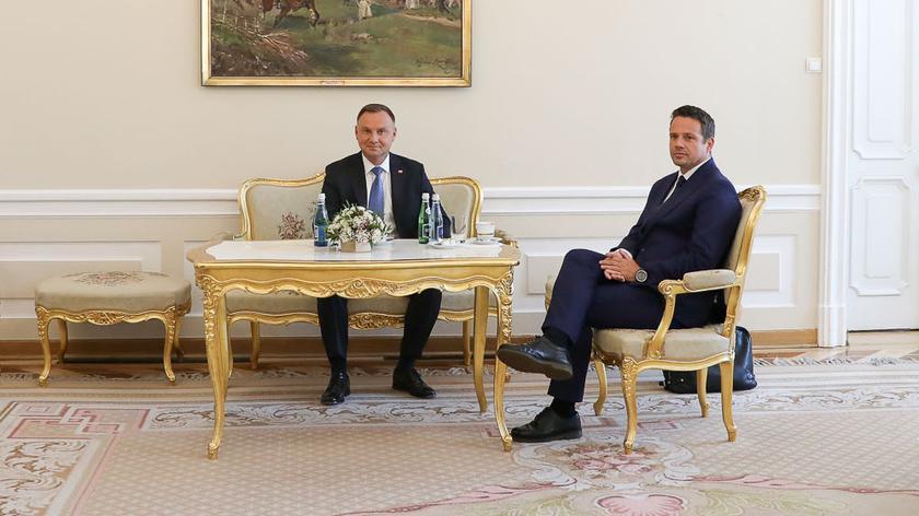 Duda po spotkaniu z Trzaskowskim