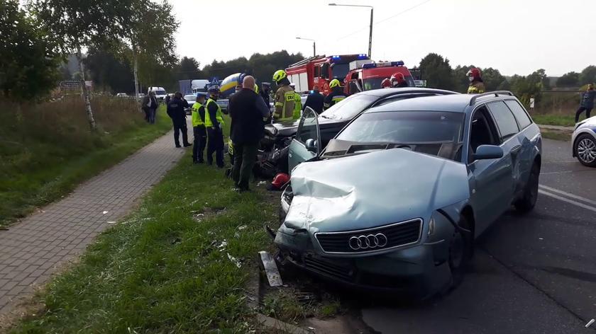 Wypadek podczas pościgu w Somoninie