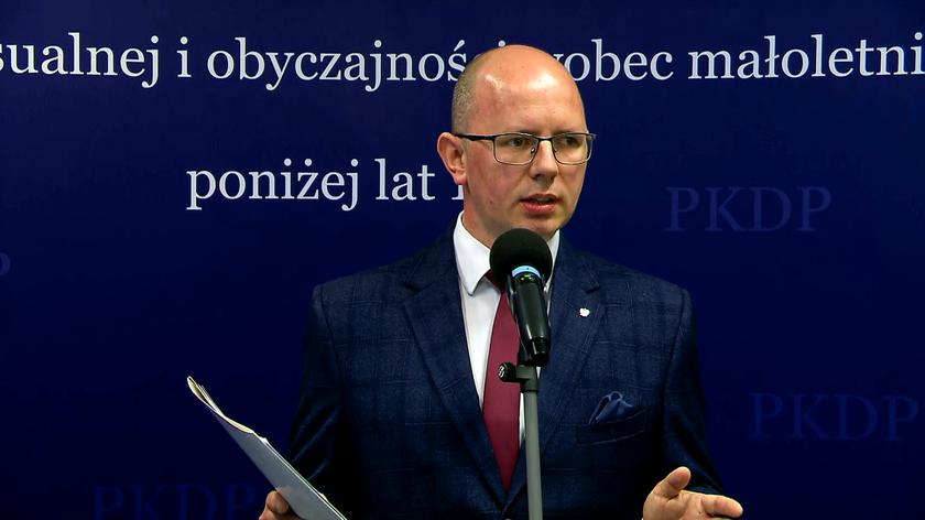 Chief of the state commission investigating paedophilia Błażej Kmieciak