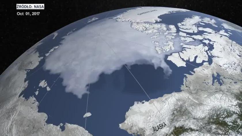 Topnienie lodu arktycznego w latach 2017-2019
