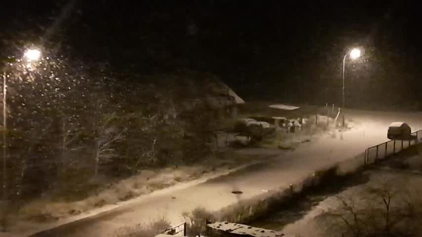 Śnieg, miejscowość Biała obok Trzcianki,  woj