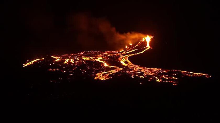 Film z erupcji Fagtadalsfjall 1