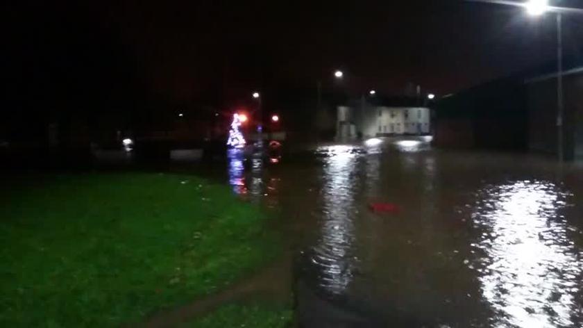 Powódź Platt Bridge Wigan w Wielkiej Brytanii
