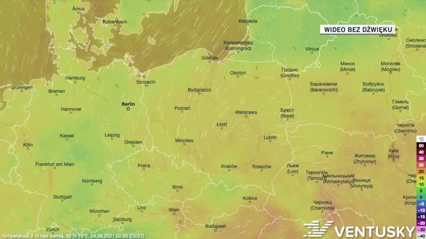 24-28.08 - prognoza temperatury na następne pięć dni (Ventusky)