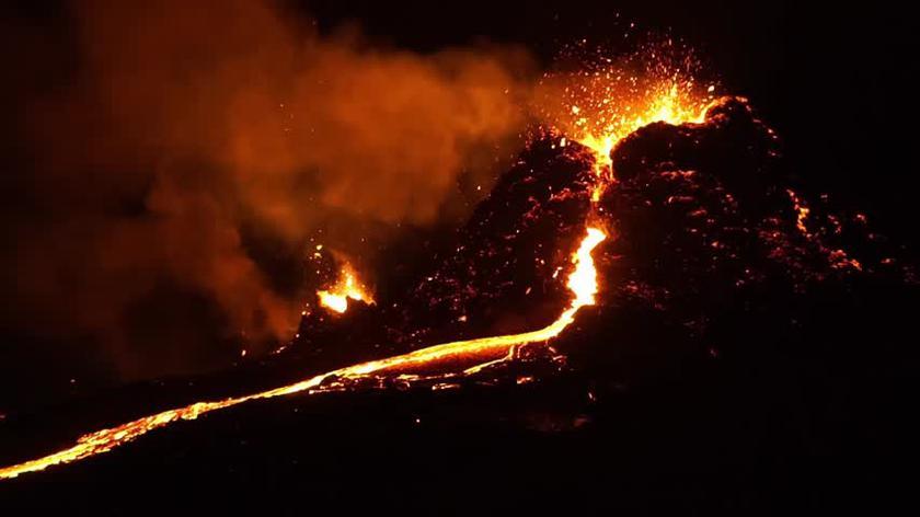 Film z erupcji Fagtadalsfjall 6