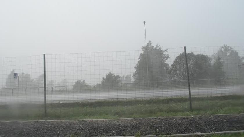 Silna burza, wichura w Jankach pod Warszawą 23.07.2017