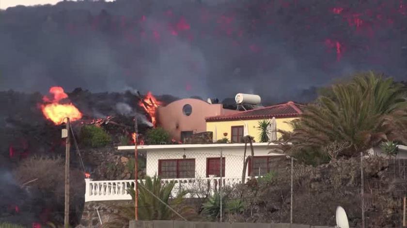 Krajobrazy po wybuchu wulkanu na La Palmie