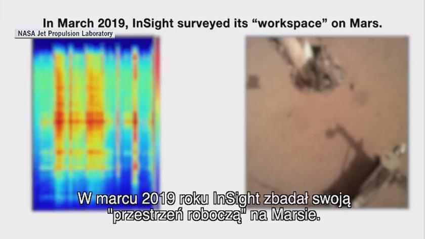 Warunki pracy sondy InSight 6 marca 2019 roku
