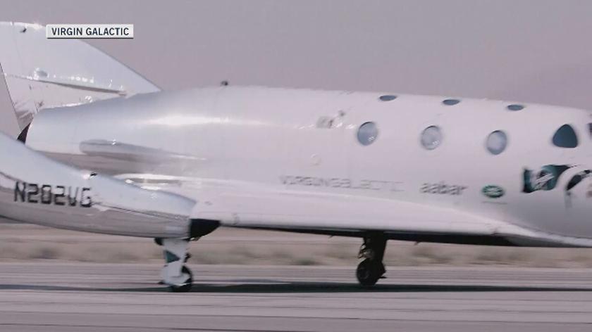 SpaceShipTwo odbył testowy lot w przestrzeń kosmiczną (materiał programu 24 Godziny)