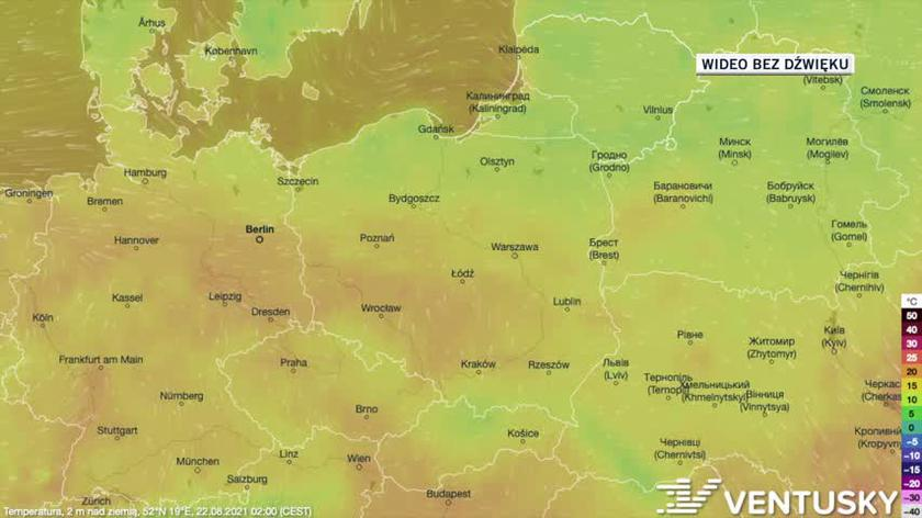 Temperatura od 22.08 (Ventusky.com)