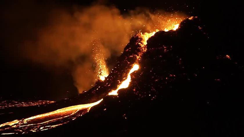 Film z erupcji Fagtadalsfjall 5