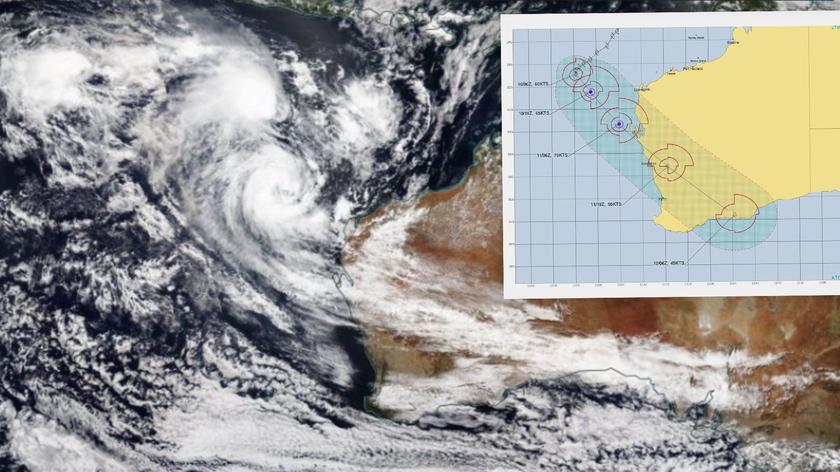 Prognozowane porywy wiatru cyklonu