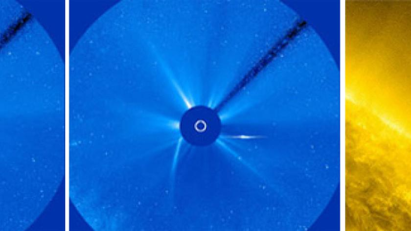 Kometa, która przeżyła spotkanie ze Słońcem (NASA)