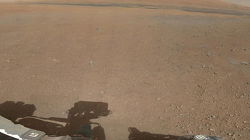 Pierwsza marsjańska panorama (NASA/JPL-Caltech/MSSS)