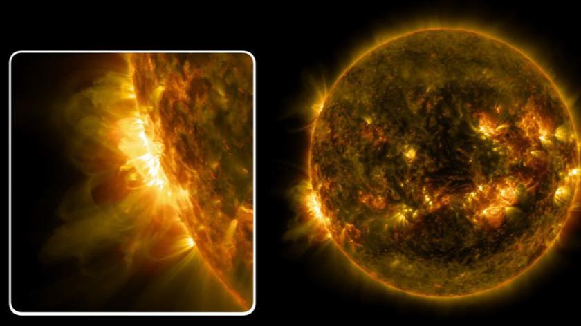 Trzy potężne erupcje na Słońcu w 24 godziny