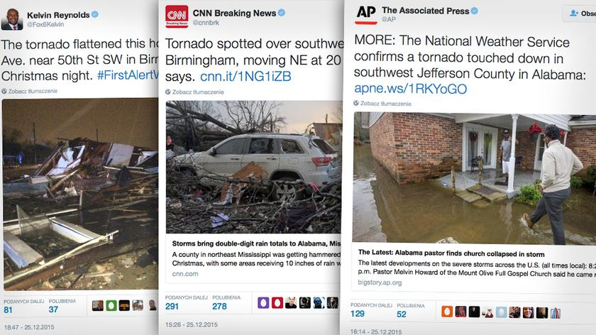 Tornada i powodzie sieją zniszczenie w USA