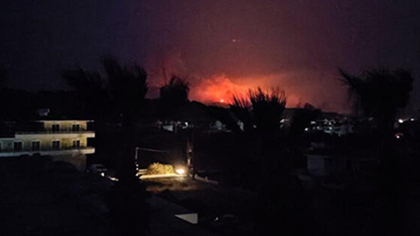 Pożar na wyspie Rodos
