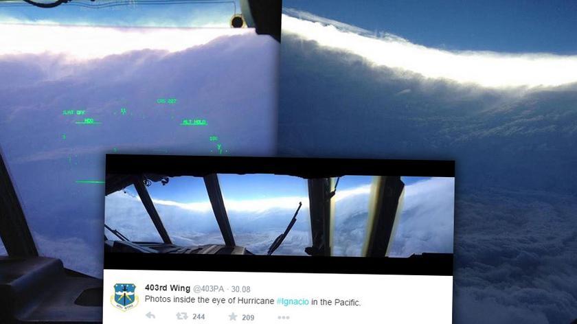 Łowcy huraganów wlecieli w oko Ignacio