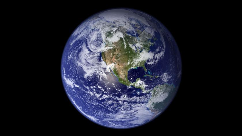 Animacja przedstawiająca Ziemię z kosmosu