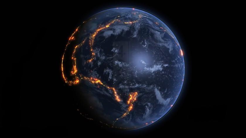 Wizualizacja trzęsień ziemi na świecie