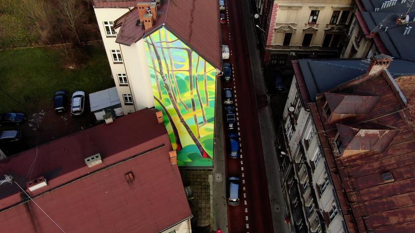 Antysmogowy mural w Bielsku-Białej