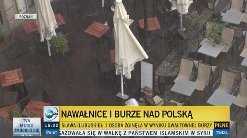 Groźne burze nad Polską
