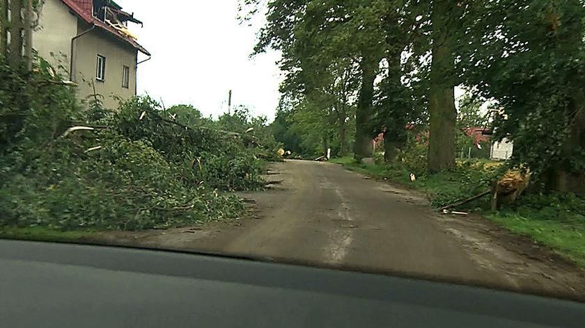 Miejscowość Suszek wyjątkowo ucierpiała z powodu burzy