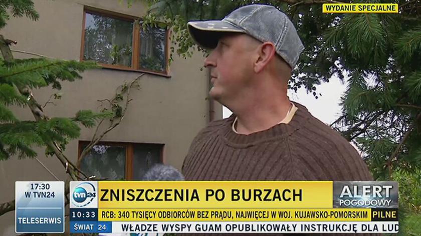 Mieszkańcy okolic Suszka o nawałnicy